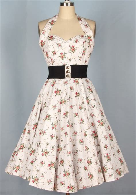 Dress Vintage Flower L 50s style 1950 s 50s style 1950s dress pin up pin up