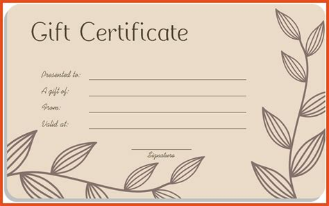 doc gift voucher template for word gift certificate