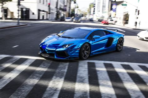 lamborghini aventador chrome blue aventador lamborghini lp700 supercars tuning blue chrome
