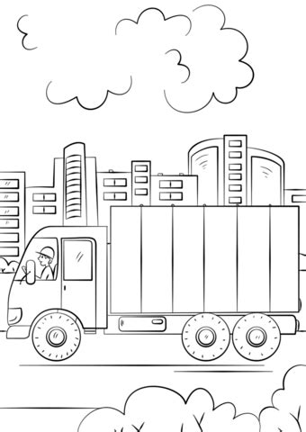 sweeper truck coloring page street sweeper coloring page coloring pages