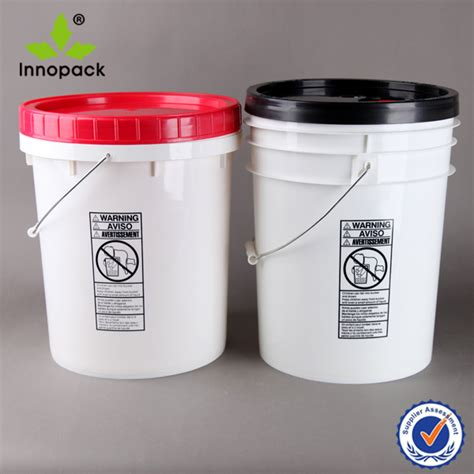 Plastik Vintage White Pedikategorikanarl Plastik Packing Food Grade white pp top 20l plastic buckets wholesale pail 20 liter with lid with handles buy
