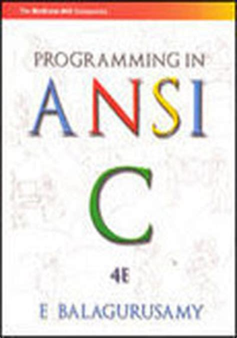 C Tutorial Balaguruswamy Pdf Free Download | download free programming in ansi c by balaguruswamy