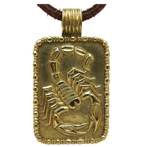 fred of a gold scorpion pendant c 1970