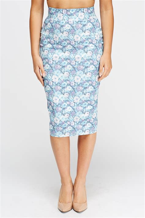 printed midi pencil skirt floral print pencil midi skirt just 163 5