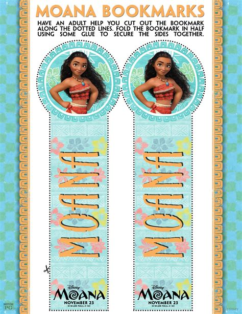 printable bookmarks disney disney s moana coloring pages and activity sheets printables