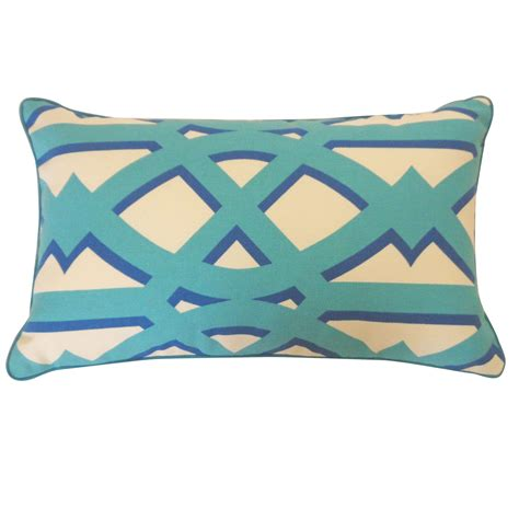 12in x 20in blue trap outdoor throw pillow dfohome