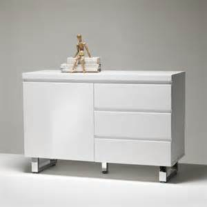 Small Dining Room Sideboard Sydney Small Sideboard In High Gloss White 3 Drawer 1 Door