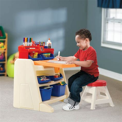 flip and doodle easel desk step2 flip and doodle easel desk with stool for any