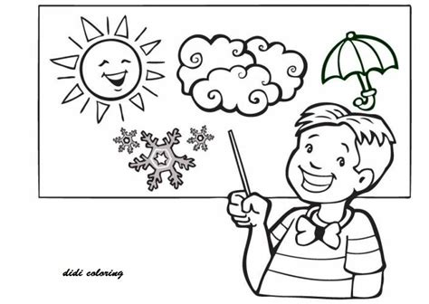 printable weather coloring page happy sunny day for kids