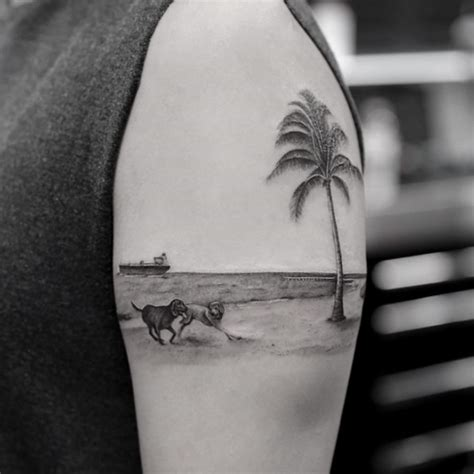 38 alluring palm tree tattoo designs tattooblend