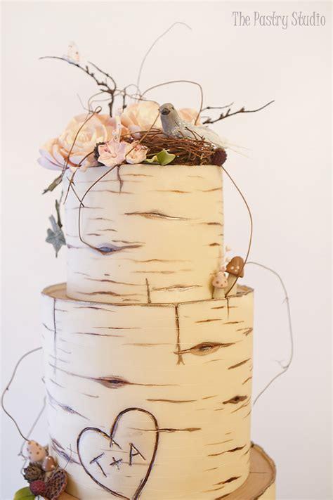 Hochzeitstorte Holzoptik by Birch Wood Wedding Cake Custom Designed By The Pastry