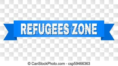 blue stripe  refugees zone  refugees zone text