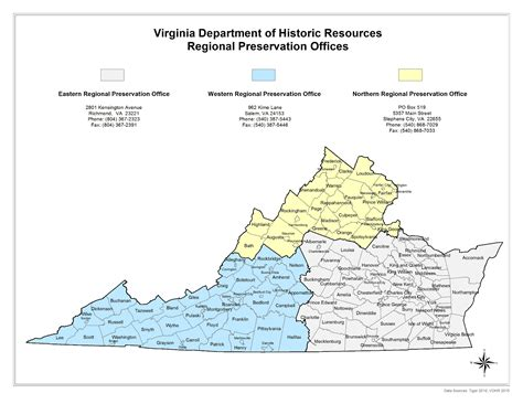 Va Regional Office Locator by Department Of Historic Resources Regional Preservation Offices