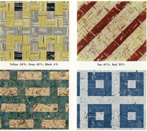 30 patterns for vinyl floor tiles from the 1950s   Vinyls