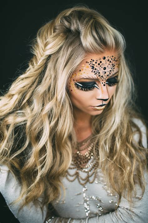 lion cut for ladies lion hairstyle on woman halloween lion s makeup vivian