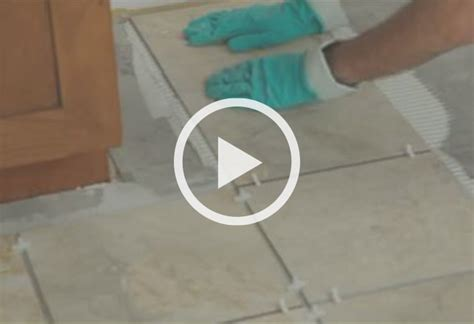 Laying Ceramic Floor Tile How To Install Ceramic And Porcelain Floor Tile At The Home Depot