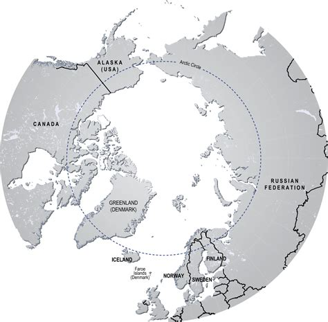 arctic circle map where does the arctic begin end beyond penguins and polar bears