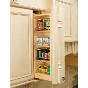 Sliding Pantry Shelves Lowes by Shop Rev A Shelf 6 In W X 36 In H Wood 4 Tier Pull Out