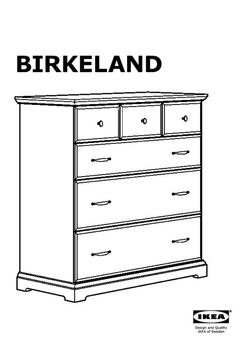 Commode Ikea 6 Tiroirs by Birkeland Commode 6 Tiroirs Blanc Ikea Ikeapedia