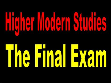 libro higher modern studies social higher modern studies the final exam
