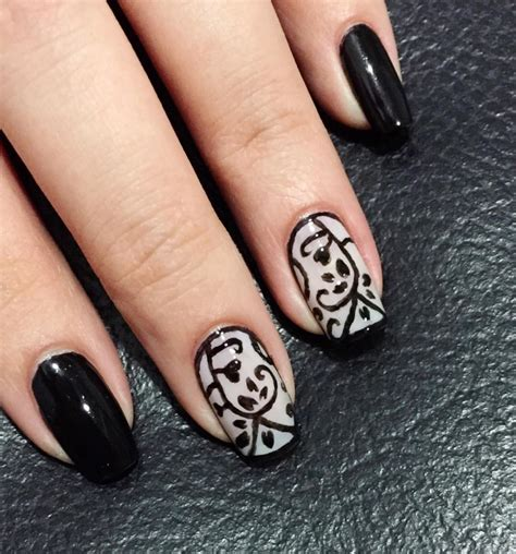Nail For Medium Nails by 29 Black Acrylic Nail Designs Ideas Design Trends