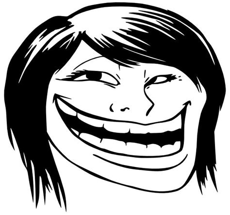 Meme Troll Face - troll face pics troll face female this decal is the