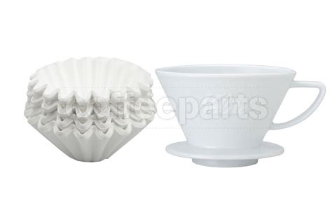 Kalita Wave Dripper Ceramic 185 kalita 185 ceramic dripper inc wave filter kit coffee parts