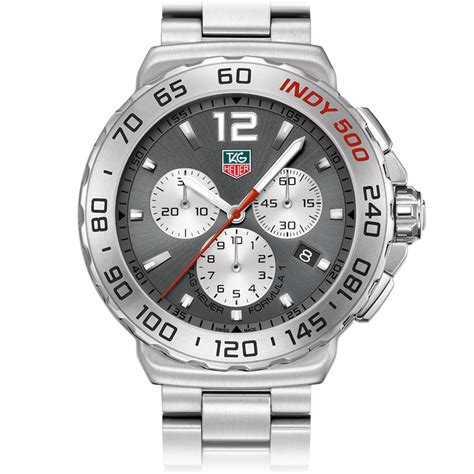 Tagheuer Indy Chronoraph For formula 1 quot indy 500 quot chronograph 42 mm anthracite sunray