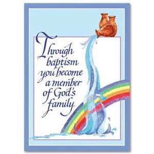Through baptism greeting card