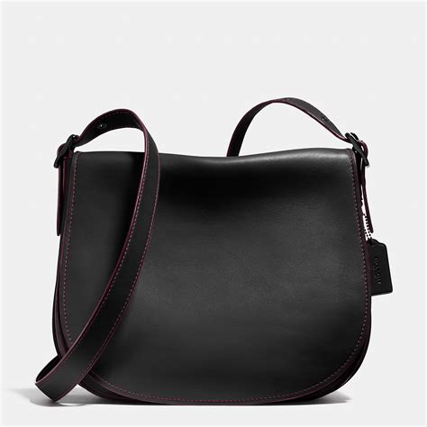 Coach Leather Saddle Black Coach Saddle Bag 35 In Glovetanned Leather In Black Lyst