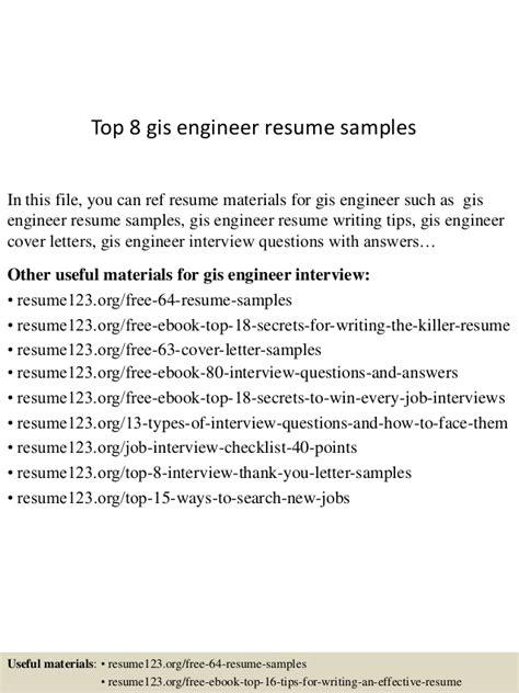striking gis resume format top 8 gis engineer resume sles