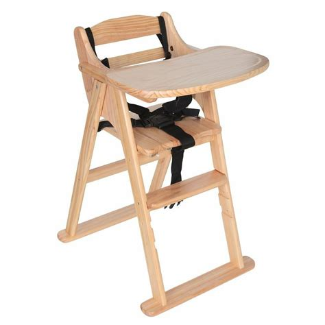 wooden high chair safetots easy foldable wooden highchair baby feeding