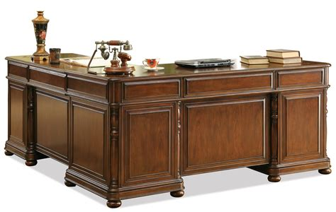 cherry l shaped desk riverside furniture bristol court 24532 large cherry l