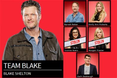 cowboy take me away the voice performance blake shelton has team blake set for live shows on the