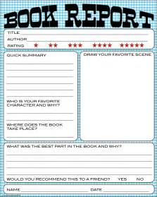 Book Report On Bnute Productions Free Printable Kids Book Report Worksheet