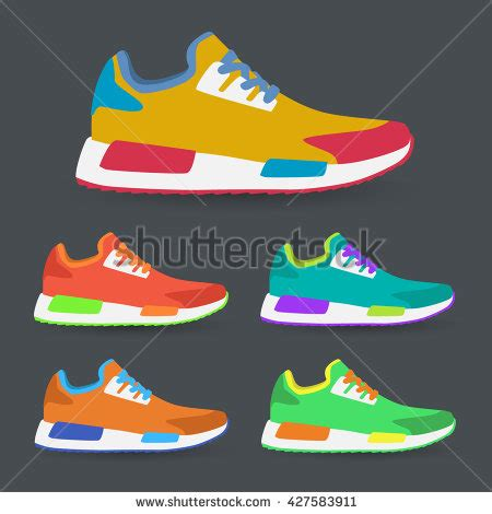 sport shoes vector vector running shoes sneakers stock vector 320193998
