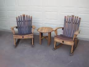 wine barrel chair plans rocking chair wine barrel chair