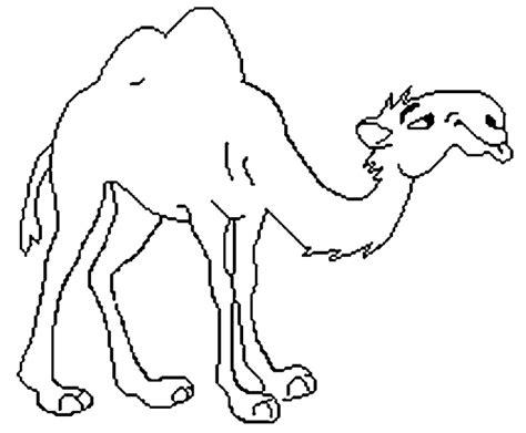 halaman belajar mewarnai gambar hewan unta gratis untuk anak