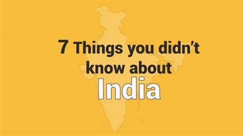 about india 7 things you didn t about india