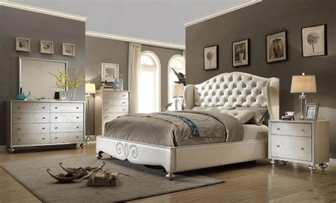 paris bedroom set paris shelter upholstered pearl bedroom set