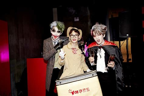 exo halloween 2017 photo sm family posts pictures from sm halloween party