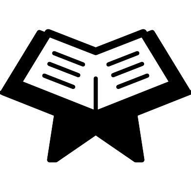 Alquran Black And White reading quran free education icons