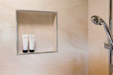 Bathroom Niche Ideas by Schluter 174 Rondec Edging Amp Outside Wall Corners For