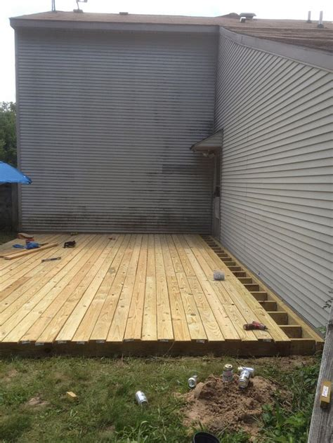 building a backyard deck 25 best ground level deck ideas on pinterest