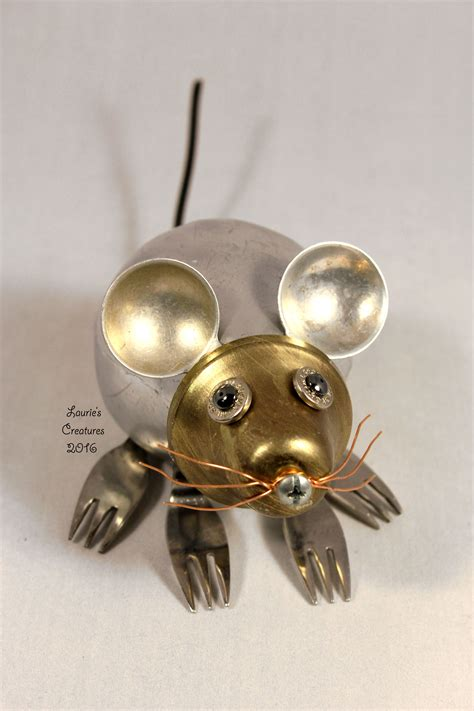 Found Object Junk Critters And Science Experiments Quot Squeak Quot Found Object Junk Mouse Created By Laurie Schnurer In 2016 Recycled