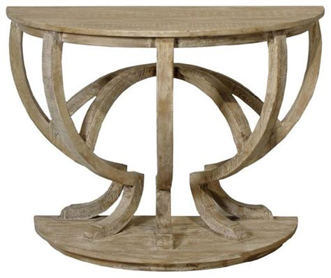 Cfc Furniture by Cfc Furniture Reclaimed Lumber Demi Lune Console