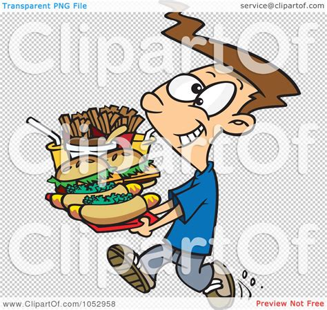 carrying food royalty free vector clip illustration of a boy carrying a heavy fast food