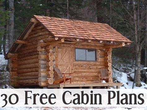 cabin plans big  small   tiny