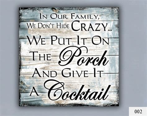 cocktail custom sign home decor porch decor by