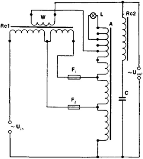 electrical circuit diagram of voltage stabilizer circuit
